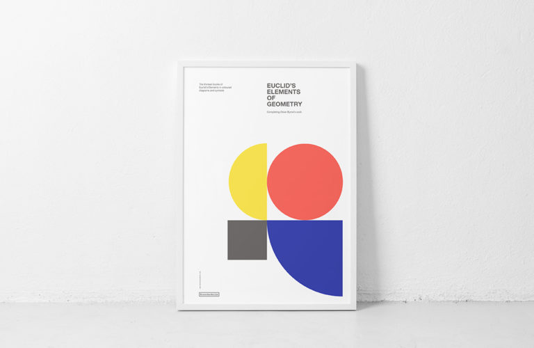 Cover. Poster. Euclid's Elements