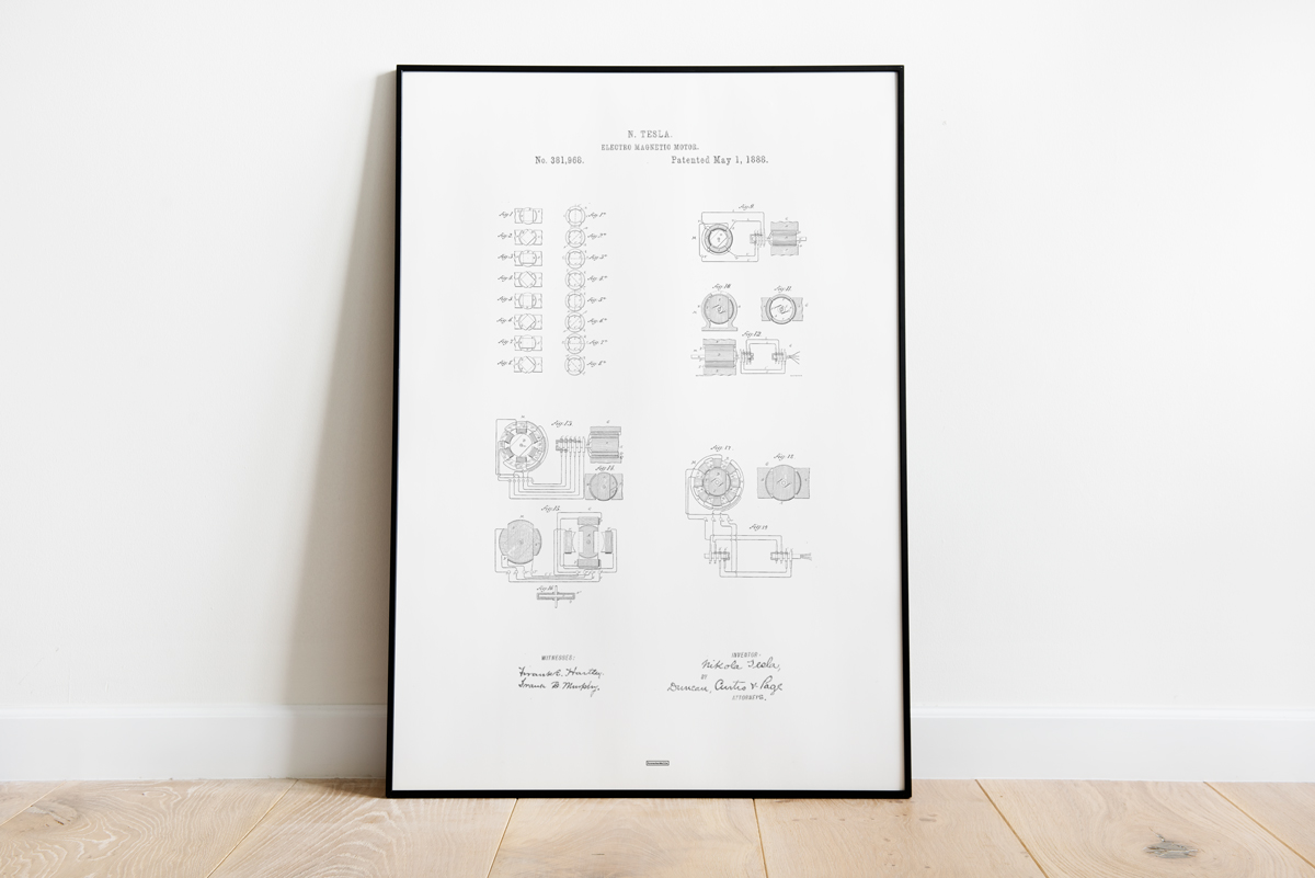 Posters-electromagnetic-motor